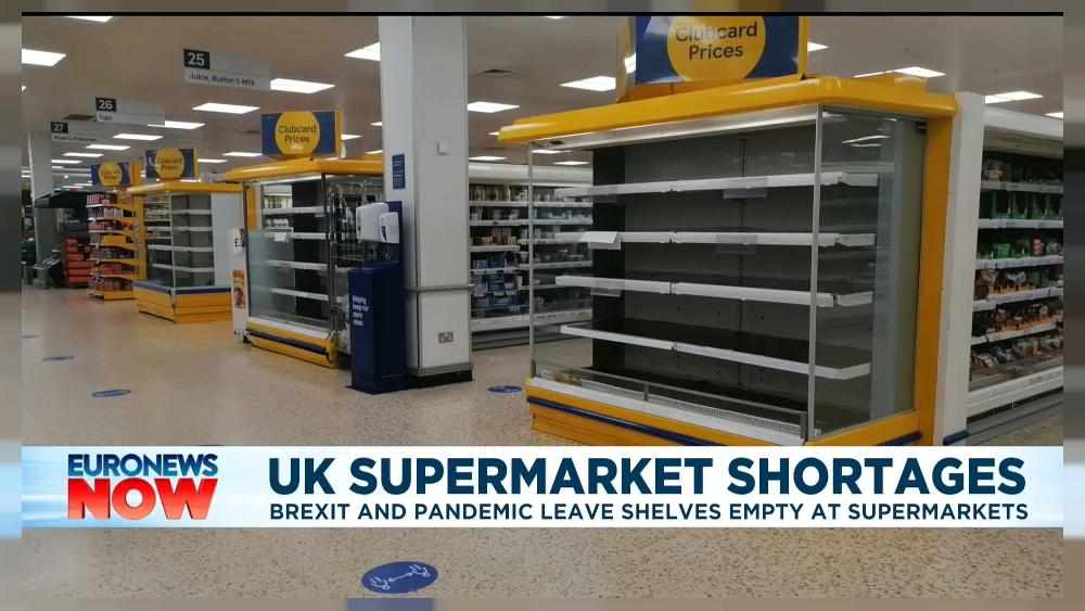 UK covid brexit supermarket shelves