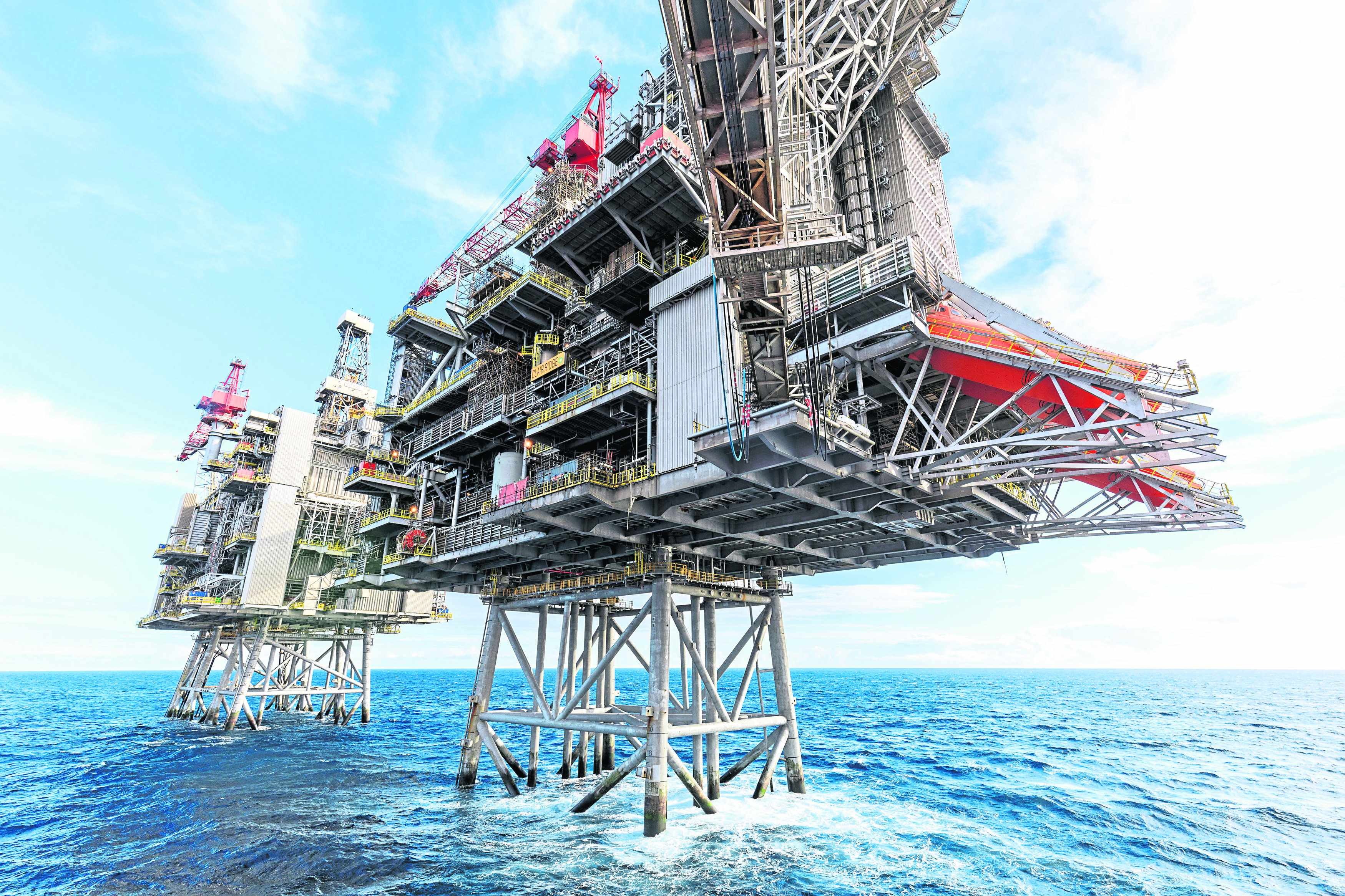 UK emissions targets oil basins