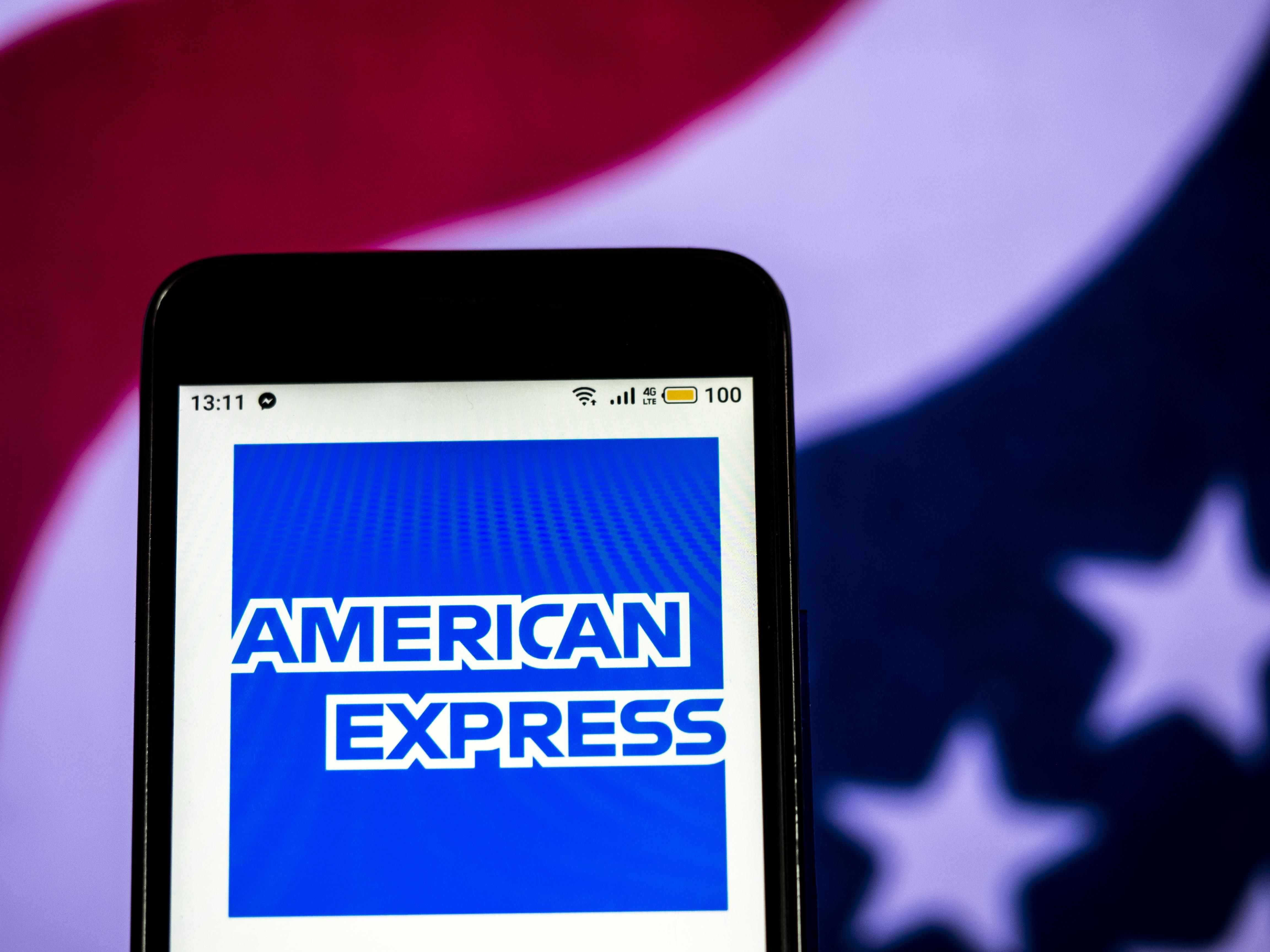 american express stock side