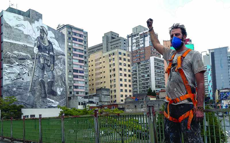 ashes, mural, raise, climate, awareness,