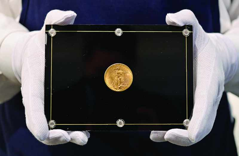 auction record sotheby gold coin