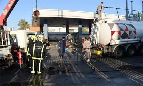bahrain fuel leak station juffair