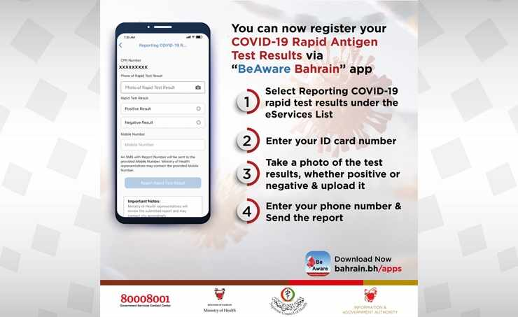 bahrain results covid app rapid