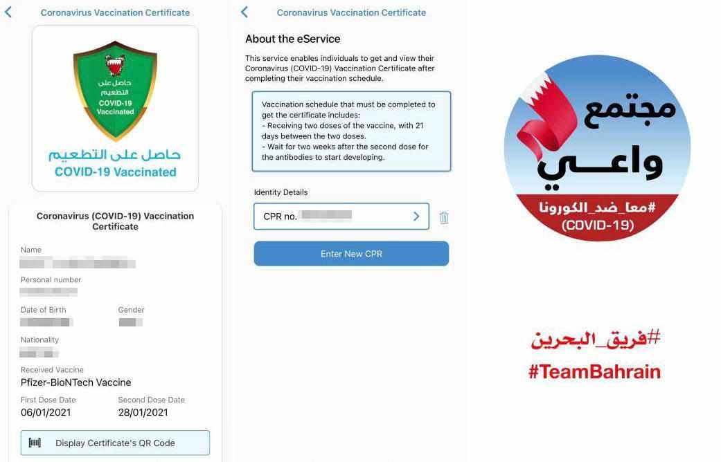 bahrain vaccine digital countries