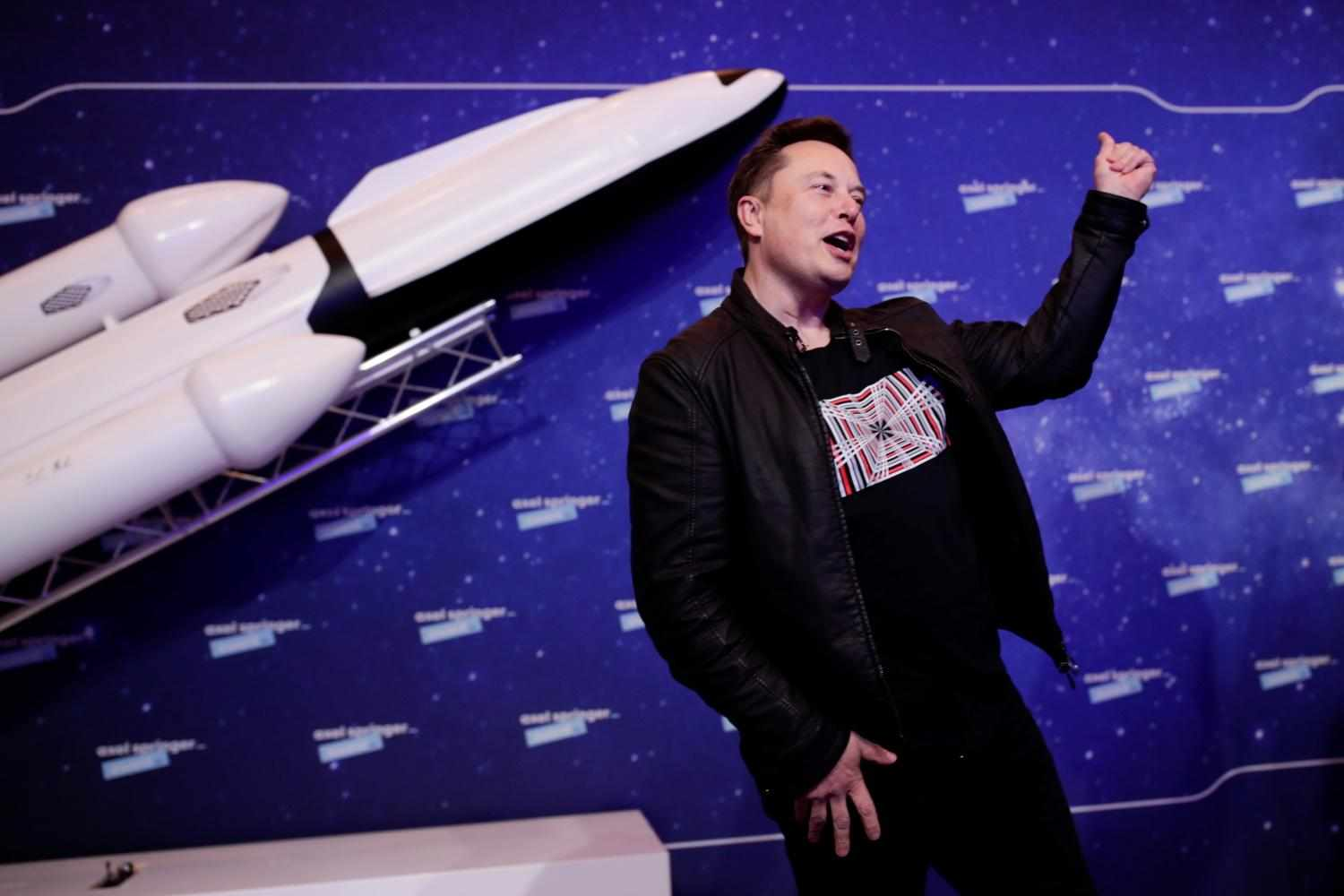 bitcoin musk spacex word
