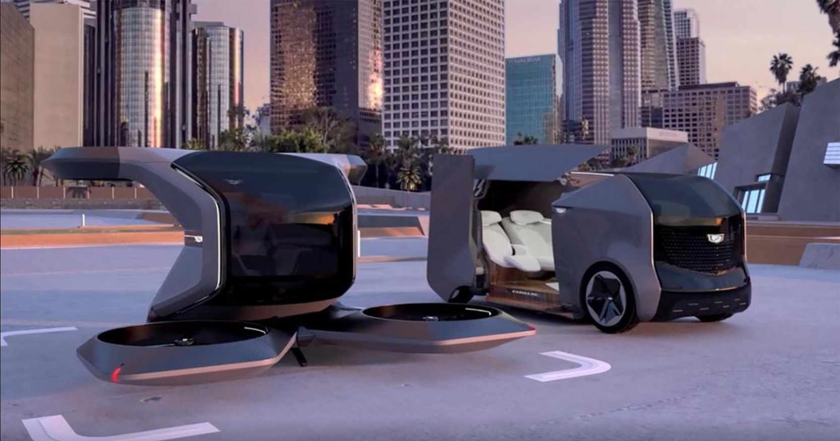 cadillac flying autonomous limit rooftop