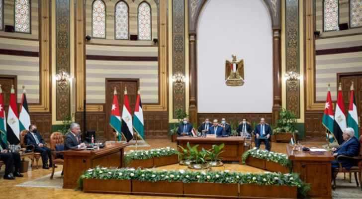 cairo, communiqu, trilateral, summit,