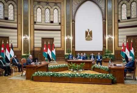 cairo, communiqu, trilateral, summit, centrality,