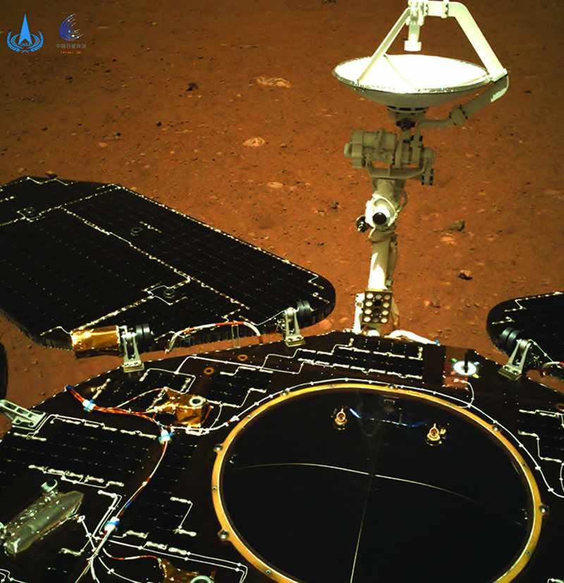 china mars planet rover roaming