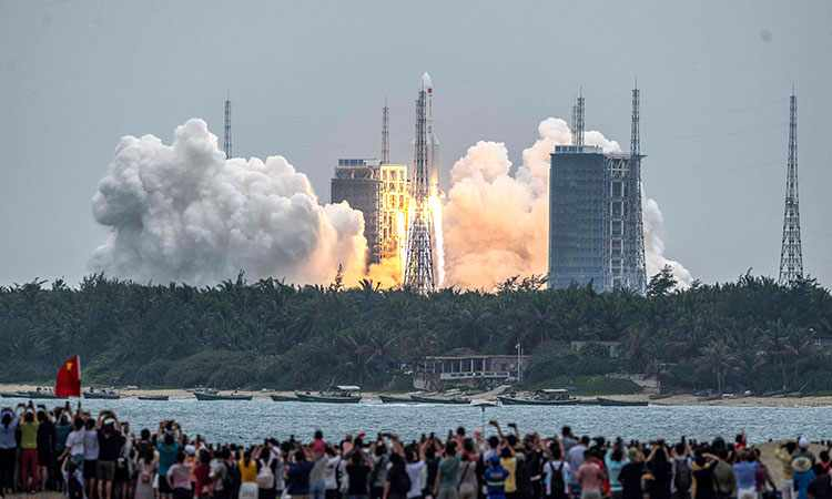 china space module station launch