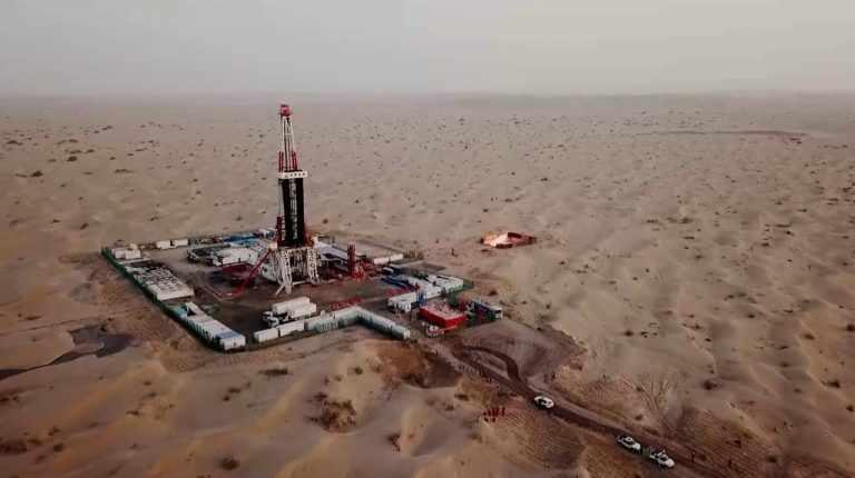 china tonne oil gas area