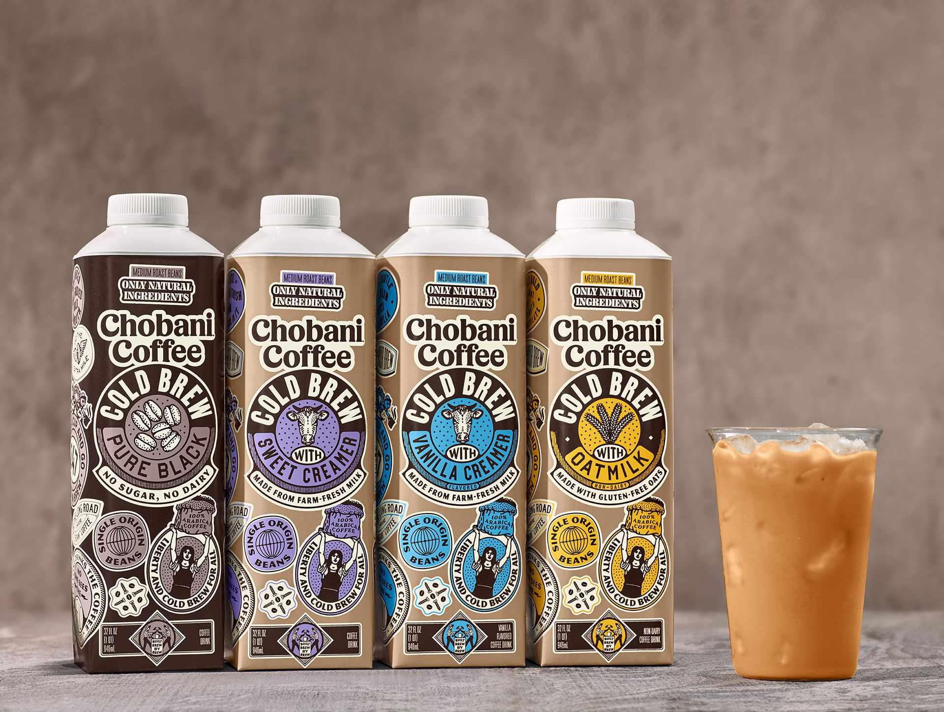 chobani yogurt coffee creamer category