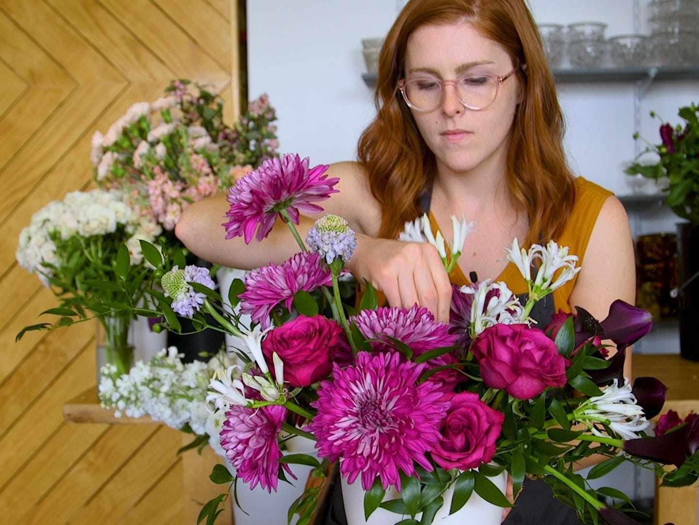 company flowers saved