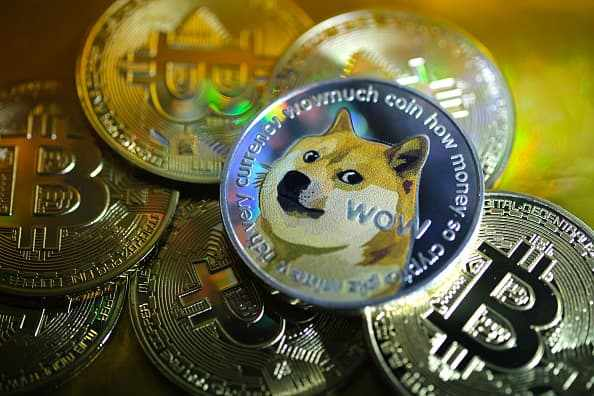dogecoin cents trading record speculative