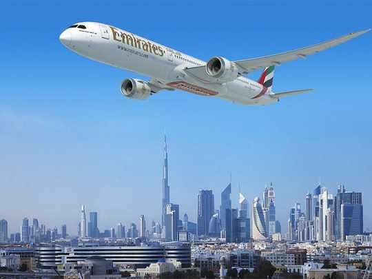 dubai emirates flight travel path