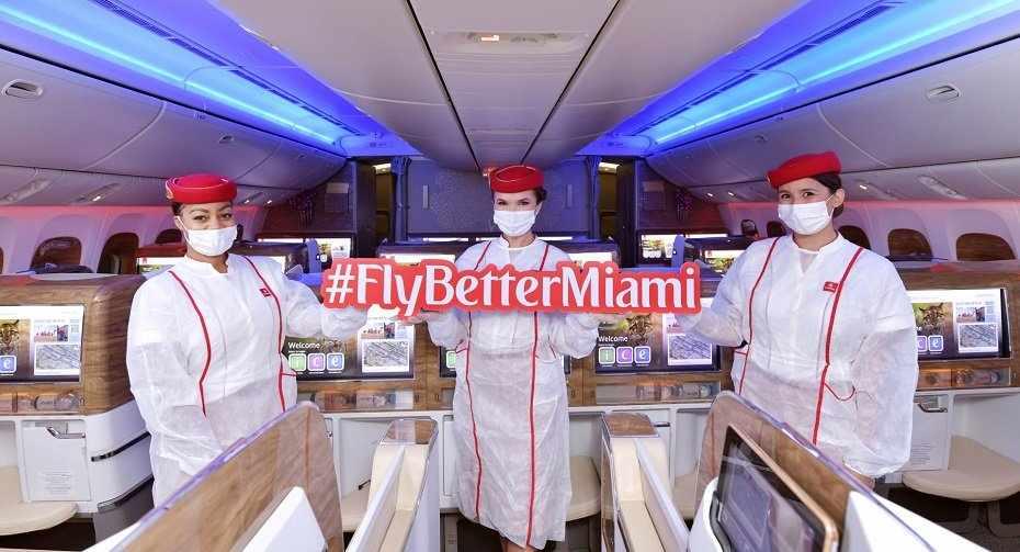 dubai emirates miami passenger inaugural
