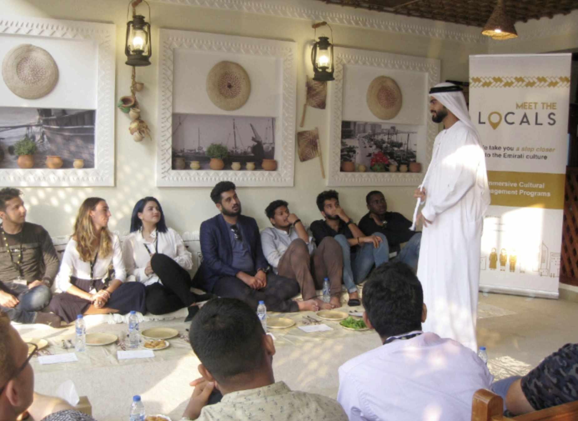 dubai emirati visitors look life