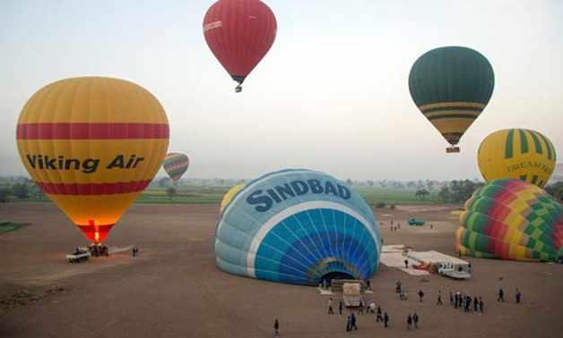 egypt balloon hot city exciting