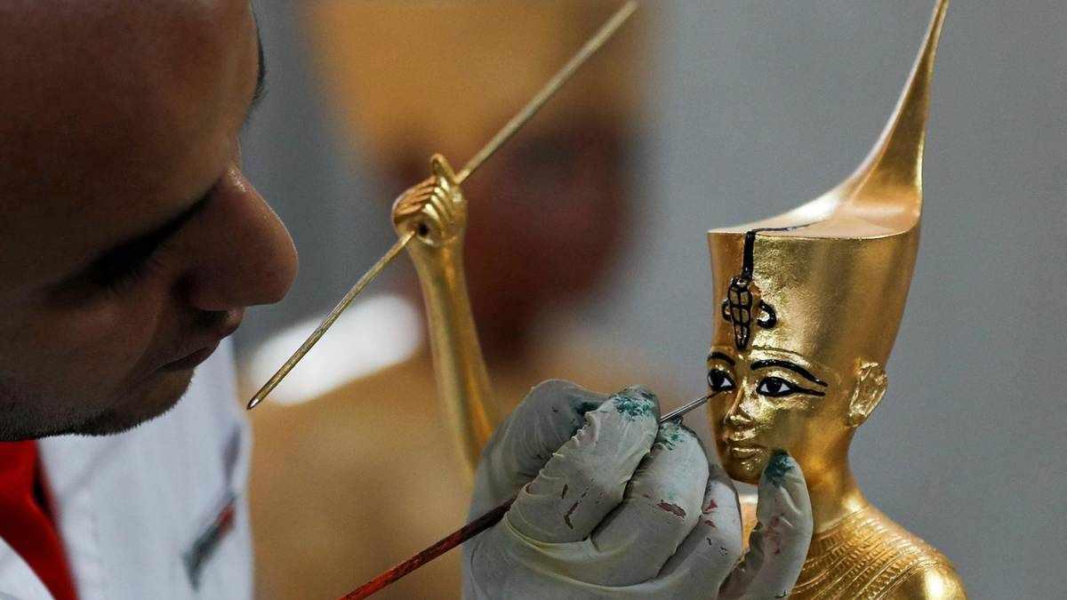 egypt factory replica inside artefacts