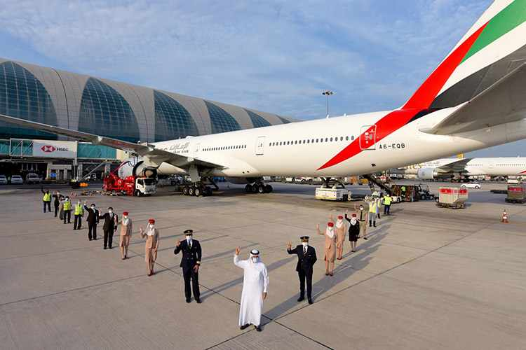 emirates flight fully vaccinated teams