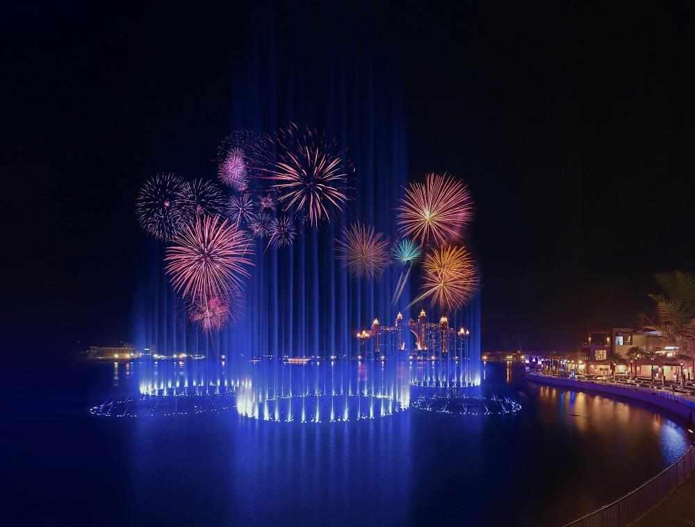 expo, pointe, fountain, opening, menafn,