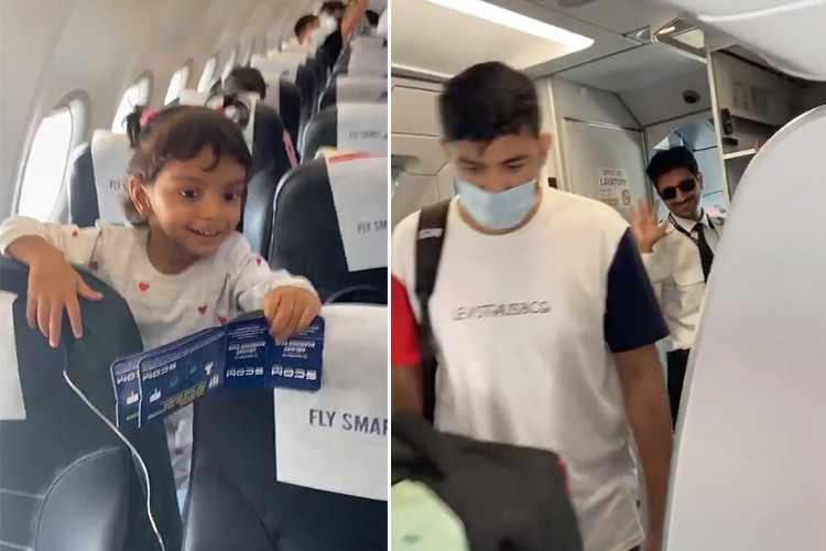 flight, father, shanaya, girl, video,