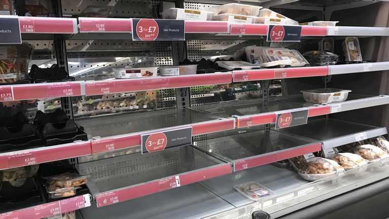 food pingdemic supply retailers shortage