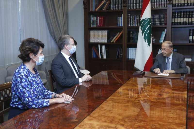 french aoun envoy presidential aids
