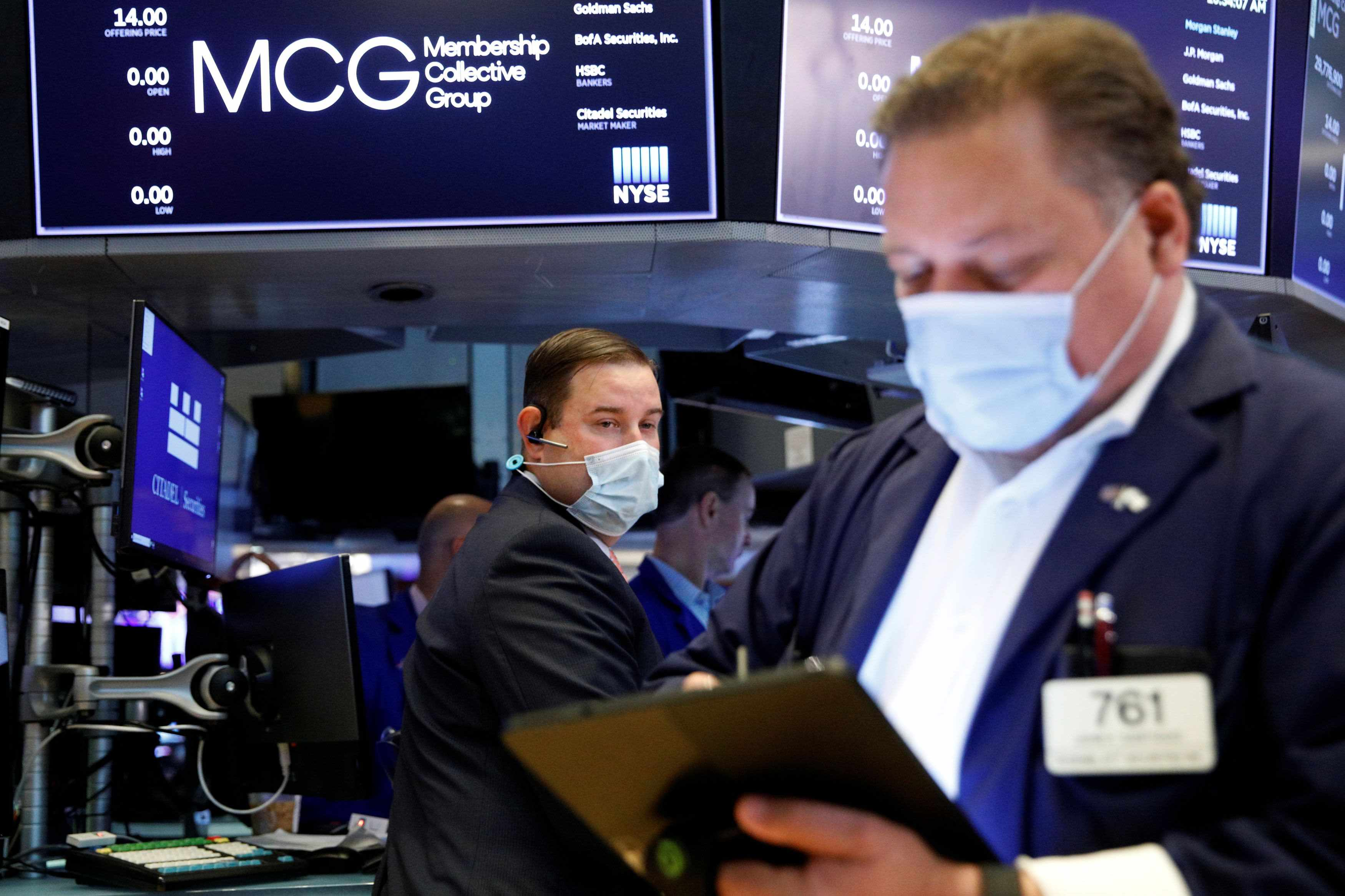 futures stock averages market points