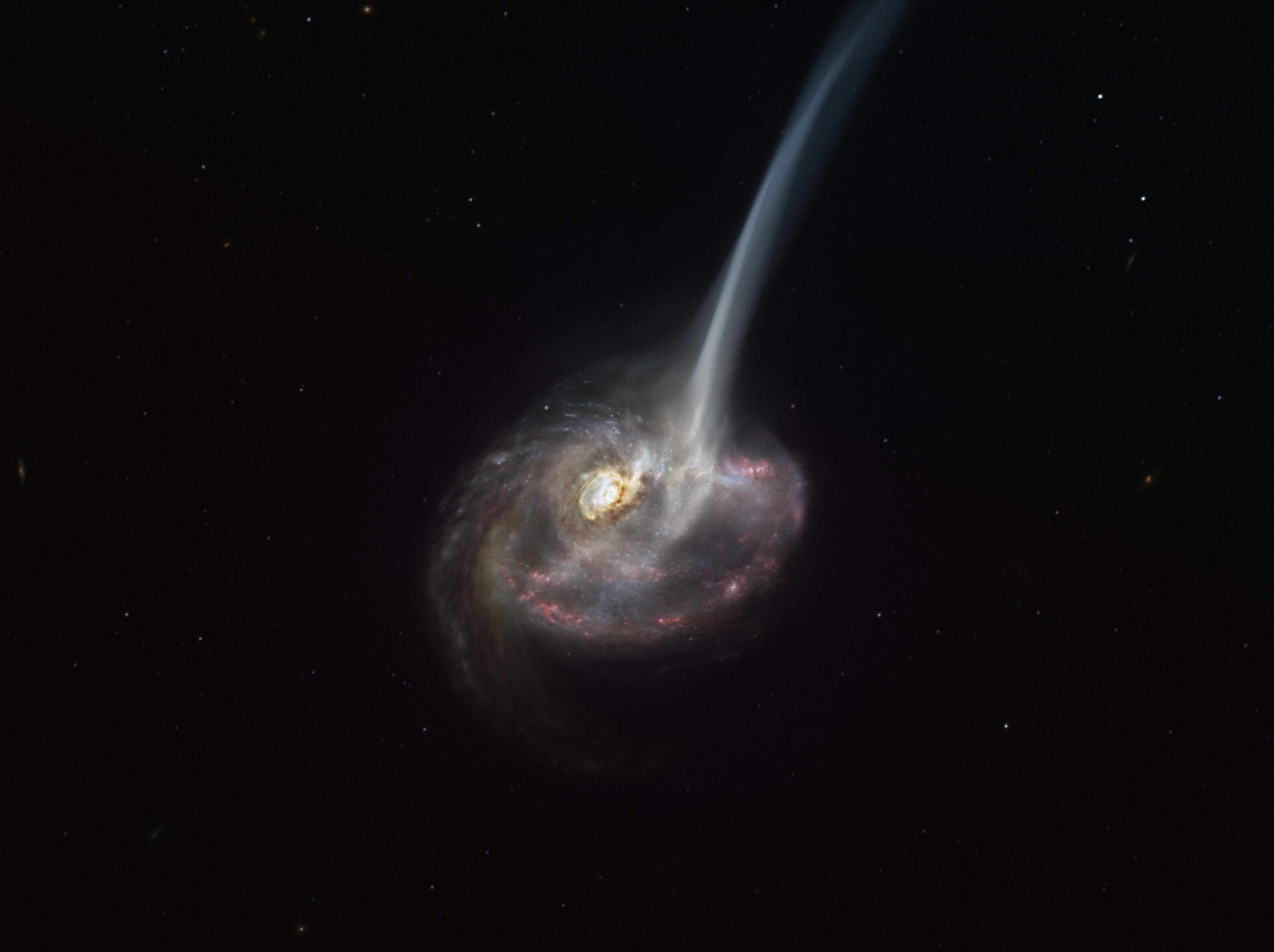 galaxy gas astronomers suns collision