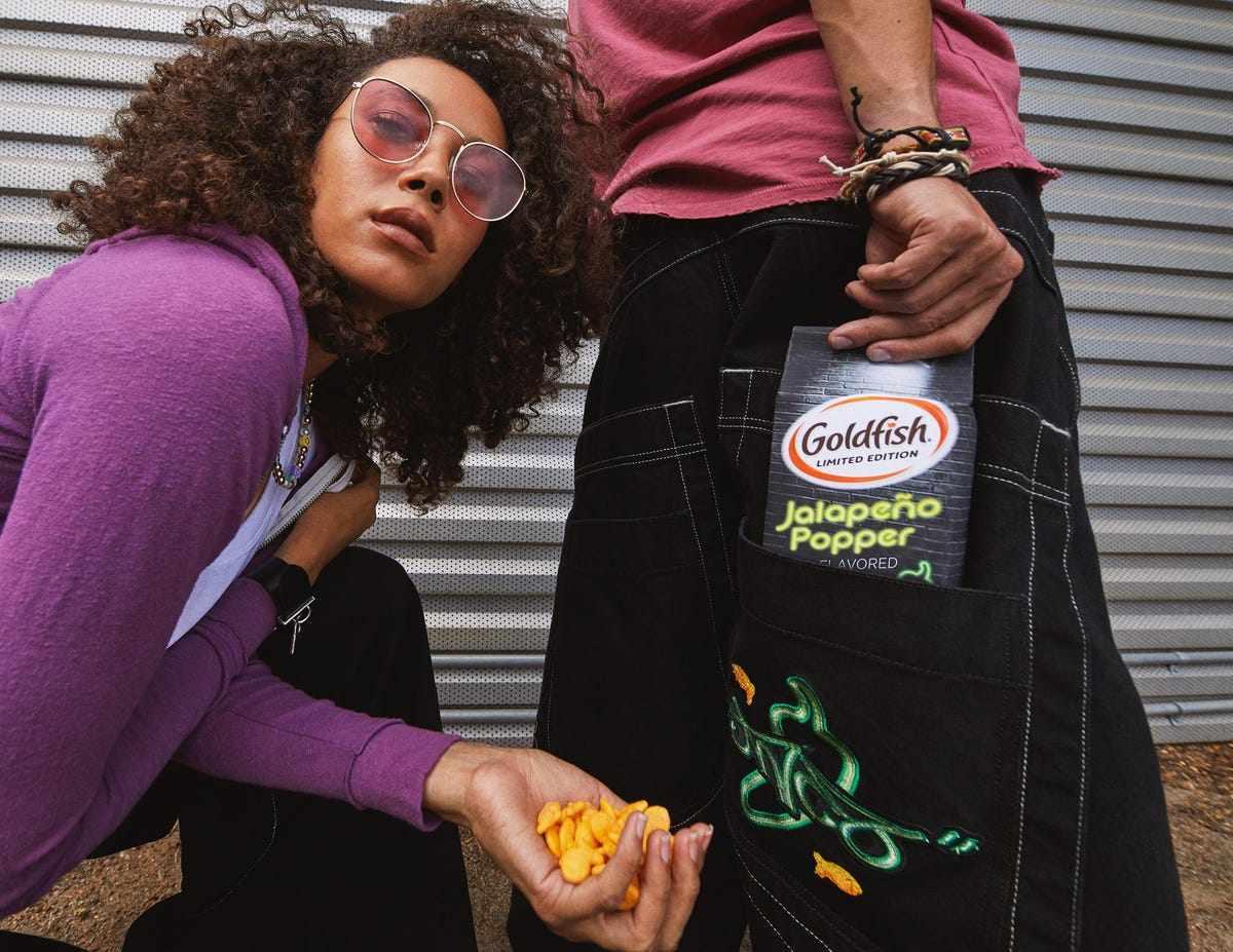 goldfish, snack, crackers, stylish,