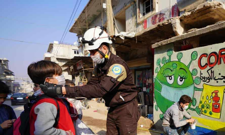 helmets syria ppe humanitarian efforts