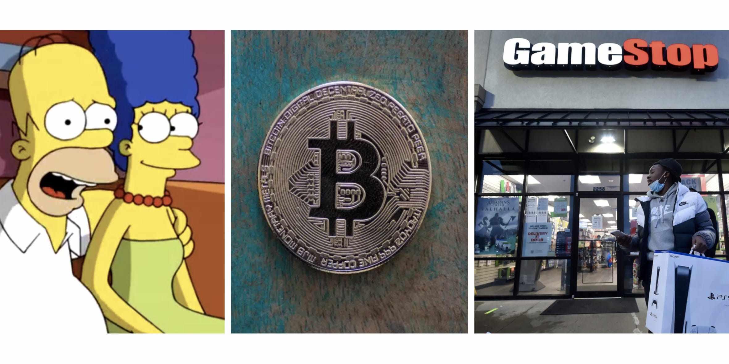 infinity bitcoin simpsons episode gamestop