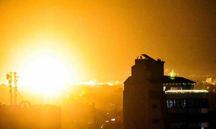 israel, gaza, consecutive, night, hamas,
