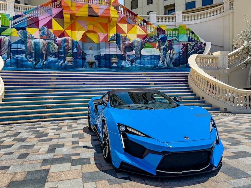 jbr walk grabs supercar car