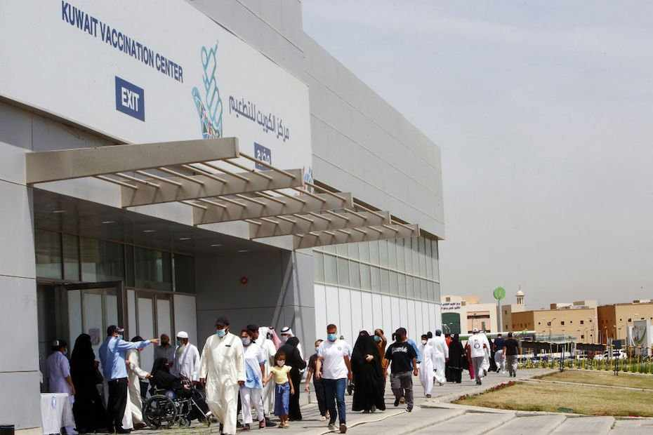 kuwait covid vaccinated quarantine travellers