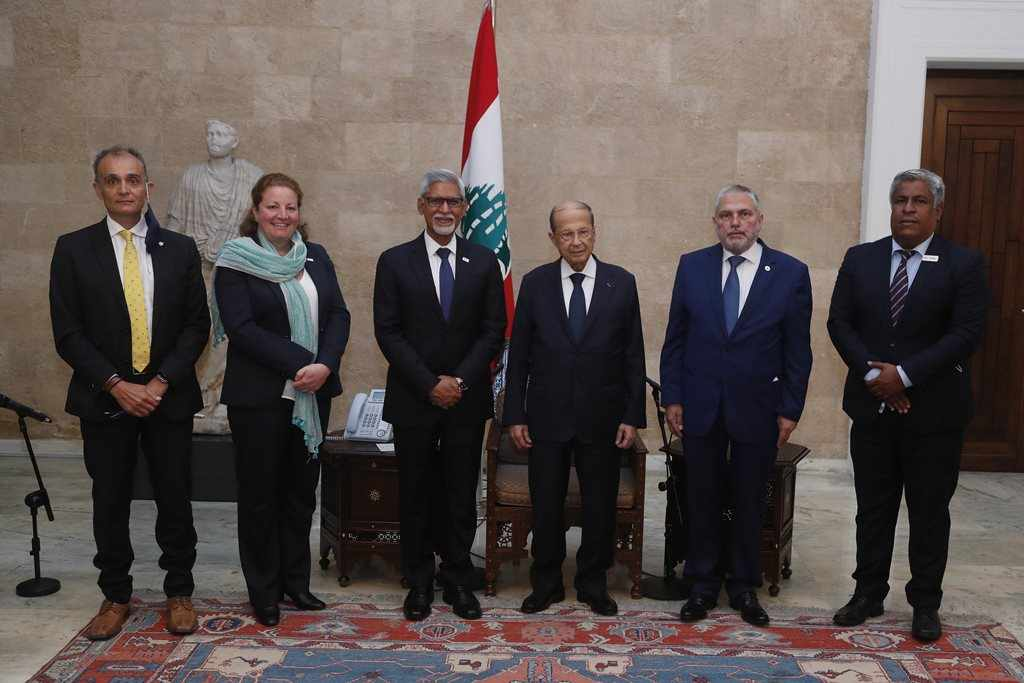 lebanon president iraqi counterpart him