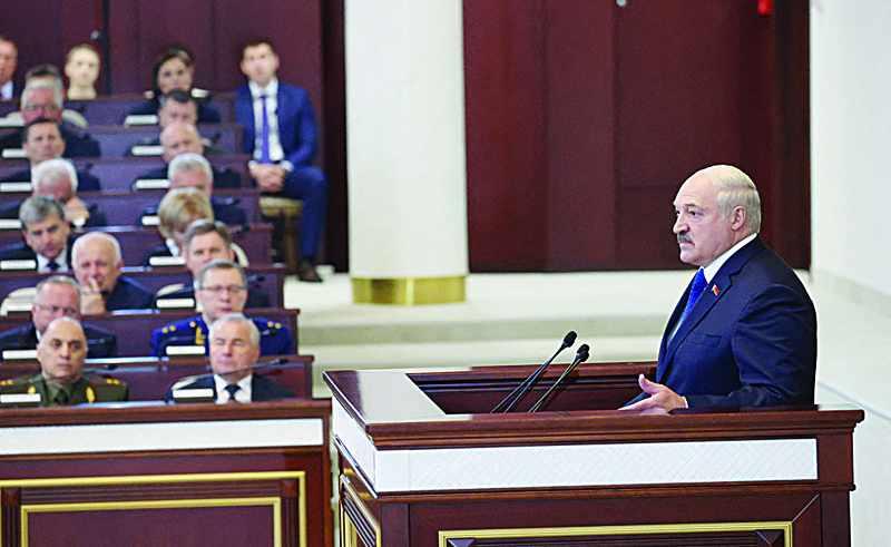lukashenko critics diversion slams plane