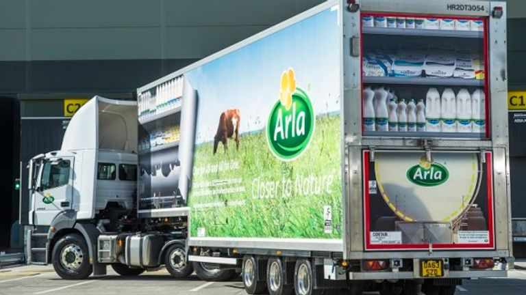 milk, dairy, supermarket, deliveries, driver,