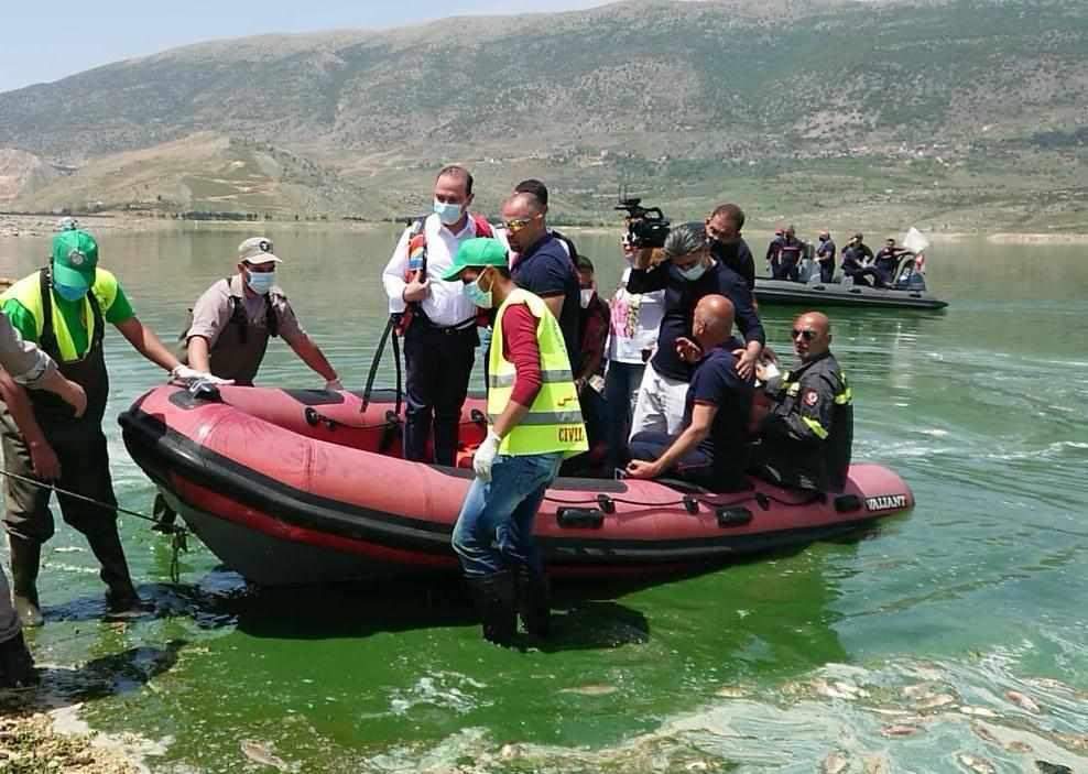 mortada qaraoun lake speed construction