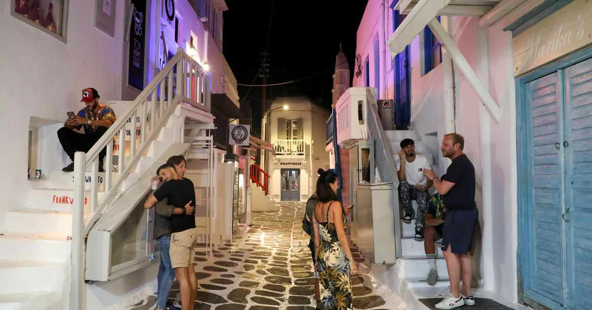 mykonos greece island party covid