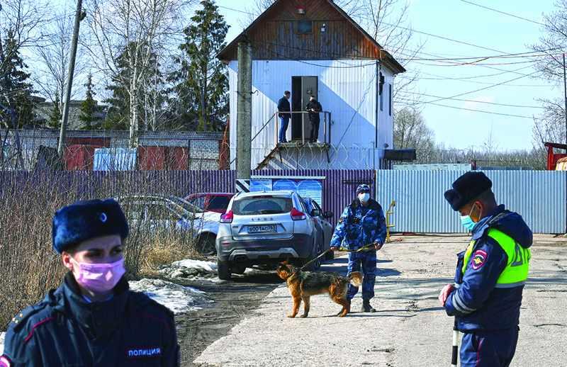 navalny hunger strike cough fever