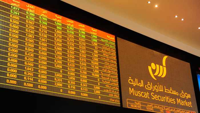 oman index share cent points