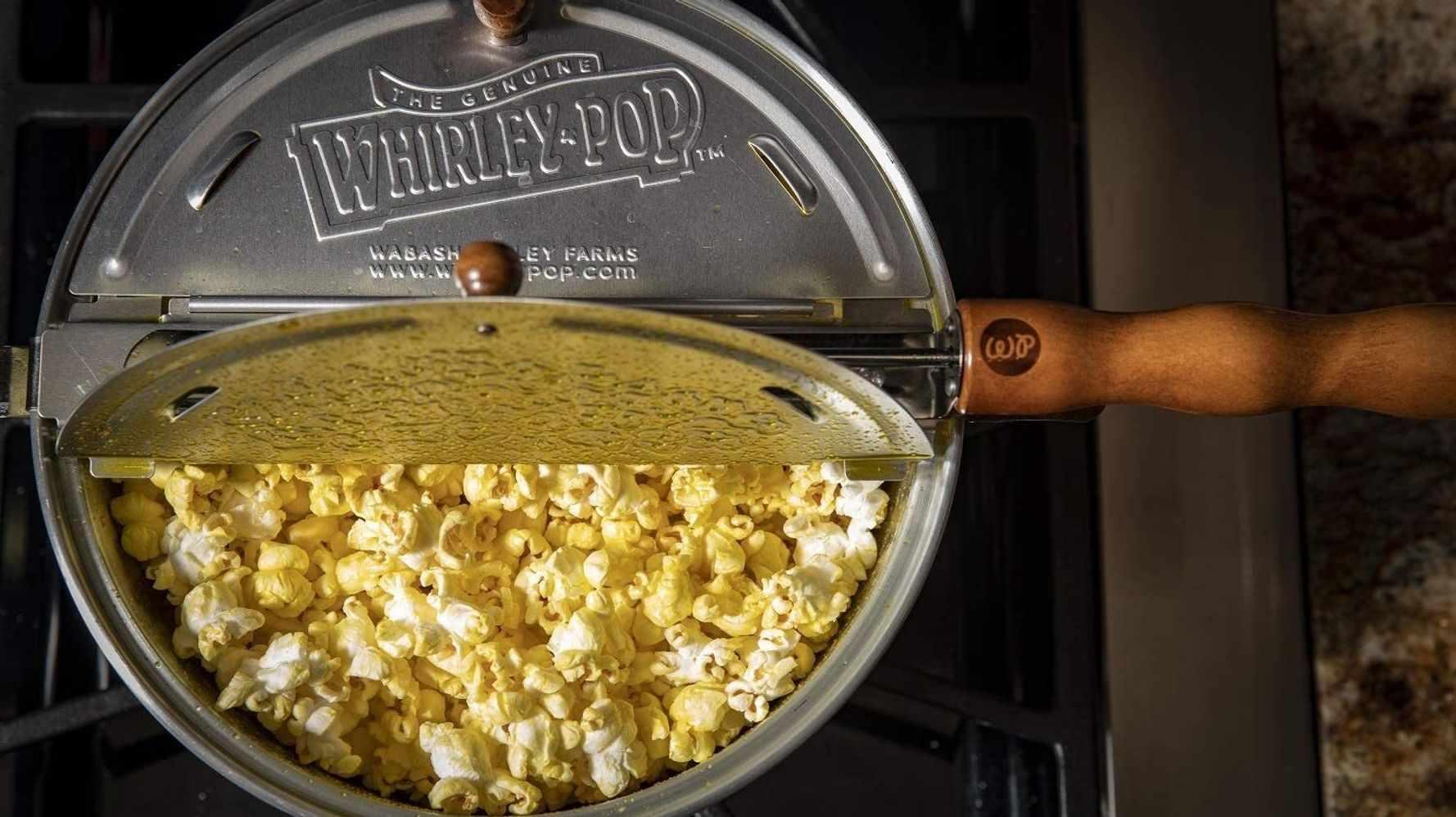 popcorn stovetop bag substances microwaved