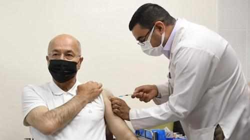 president salih barham covid vaccine
