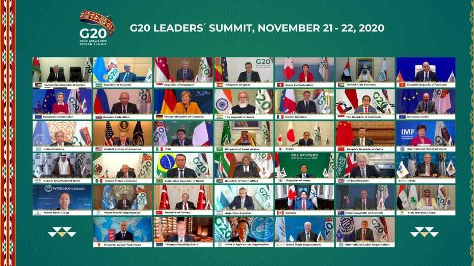 saudi g20 vaccines leaders hosted