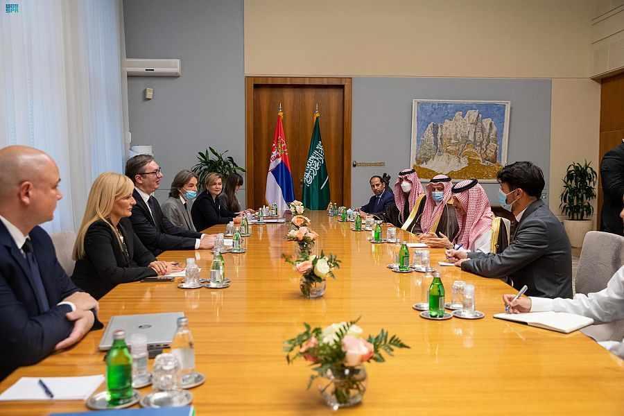 saudi, prince, bilateral, serbian, faisal,