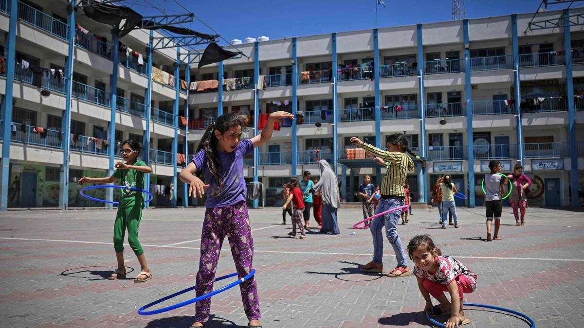 shelters risk coronavirus gaza children