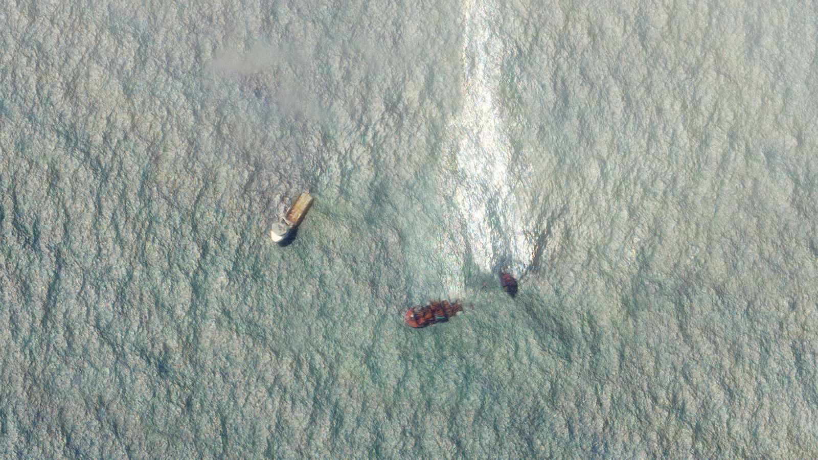 ship satellite images disaster cargo