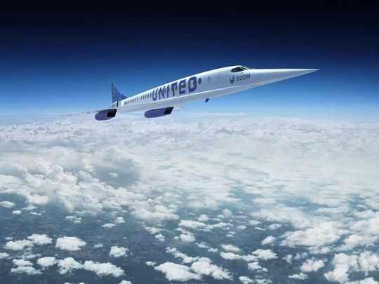 supersonic passenger jets skies